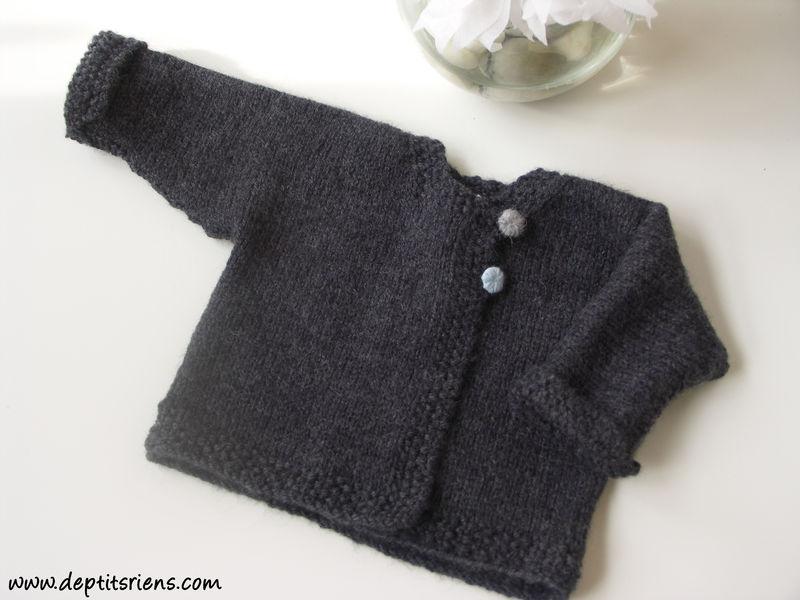 modèle tricot gilet bébé 12 mois