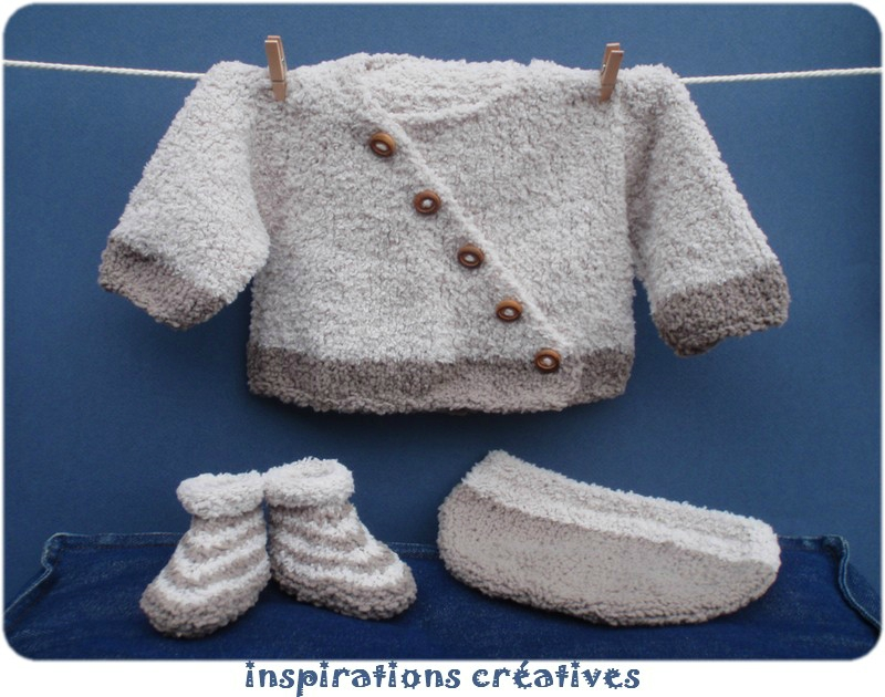 modele tricot layette bebe