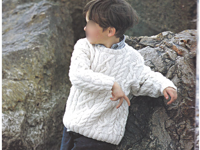 modele pull irlandais garcon