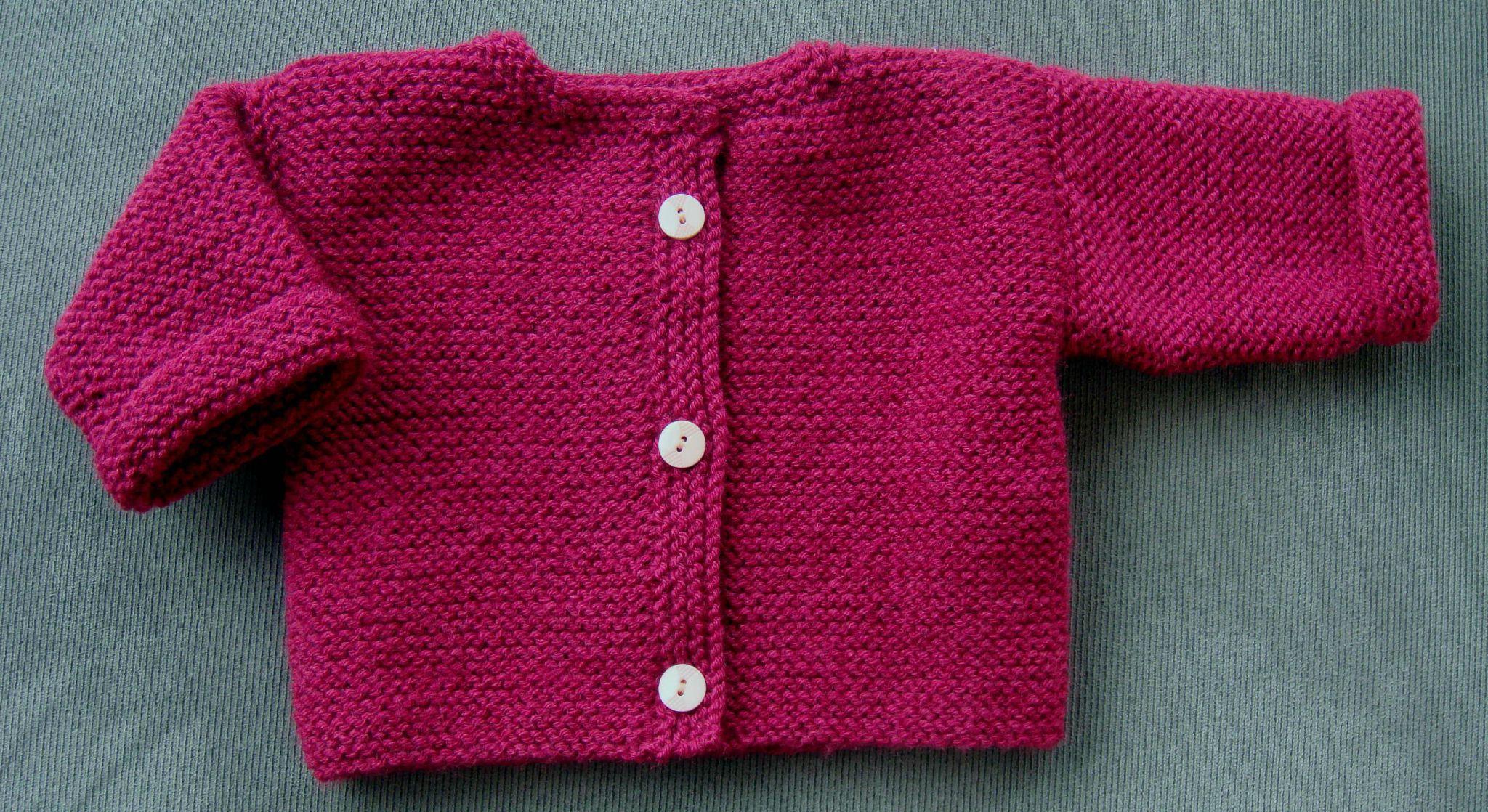Patron tricot b b gilet - Cote 2 2 tricot ...