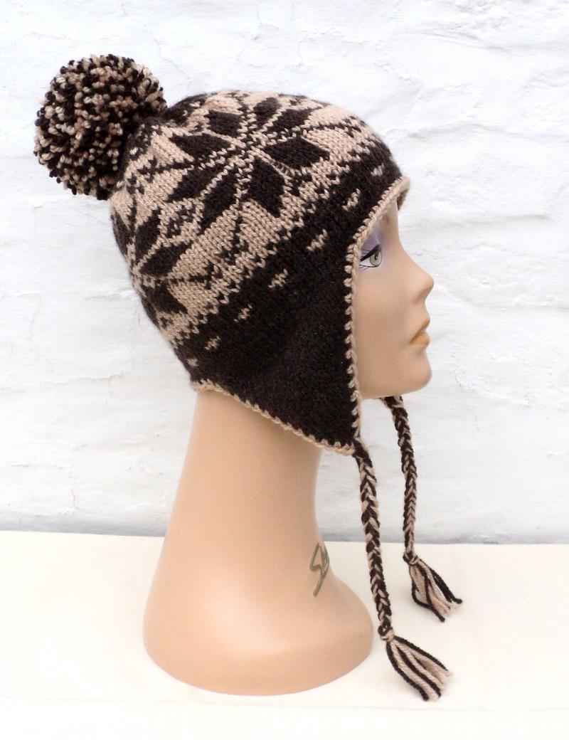 modèle tricot tuque peruvienne