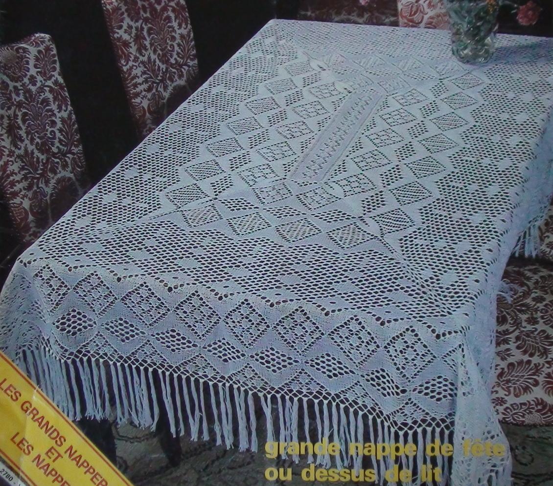 tricoter une nappe