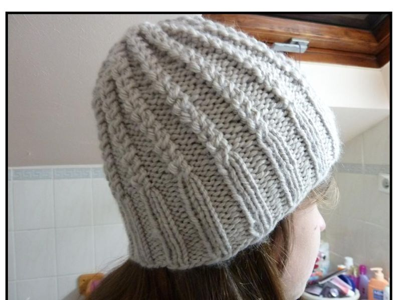 modele tricot bonnet drops