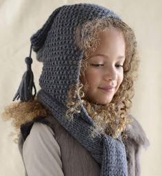 tricoter une echarpe capuche femme