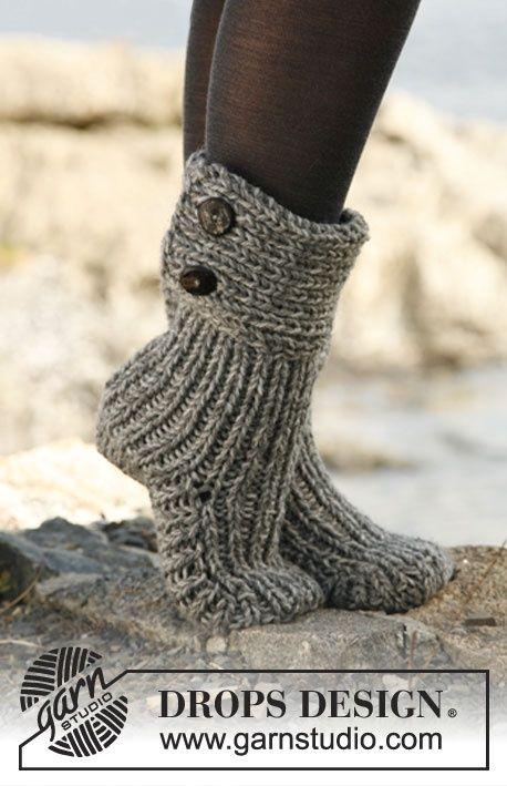 patron tricot chausson adulte