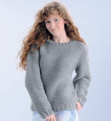 modele tricot pull femme point mousse