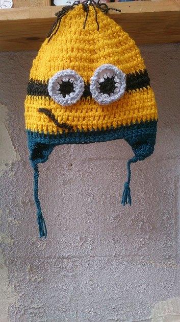 patron tricot bonnet minion
