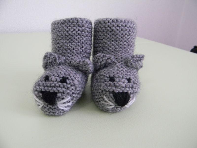patron tricot chausson pour bébé
