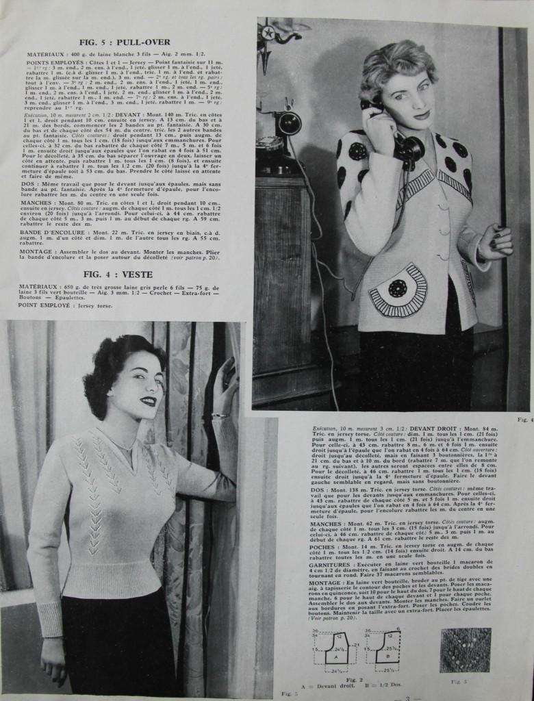modele tricot 1950