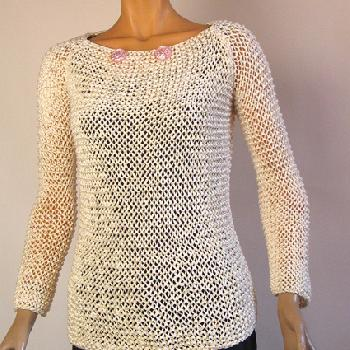 modele tricot avec du fil ruban