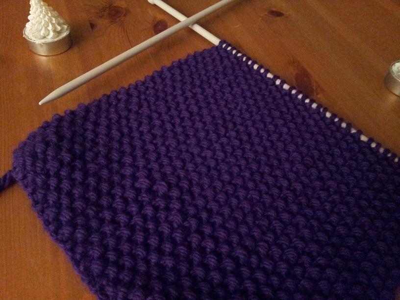 Modele tricot echarpe point de riz - Point de tricot ajoure pour echarpe ...