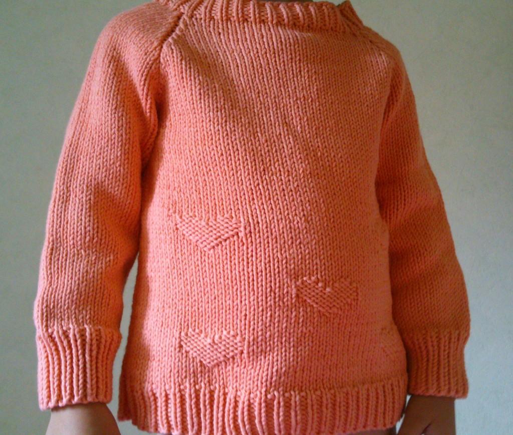modèle tricot pull fille 8 ans