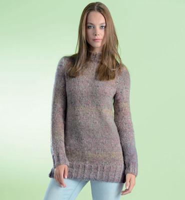 modele pull tunique femme a tricoter gratuit