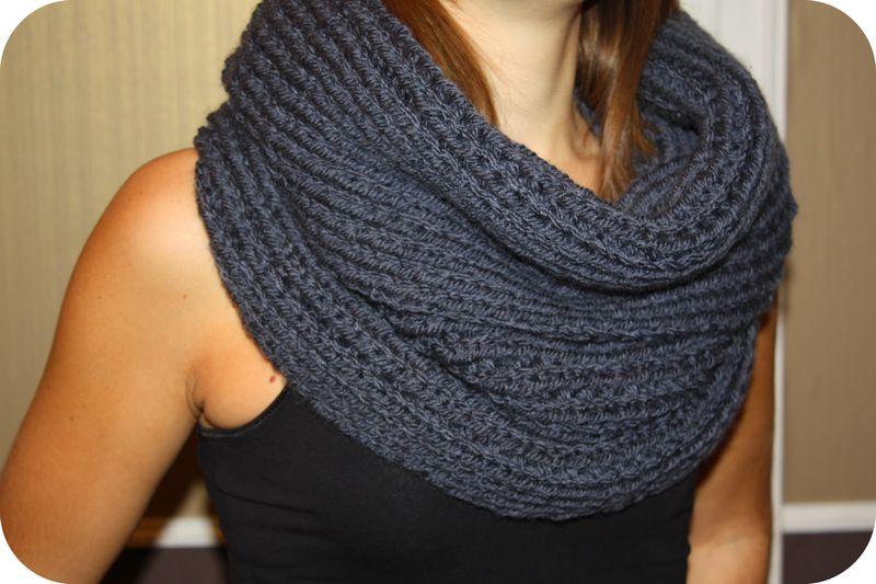 modèle tricot echarpe snood gratuit