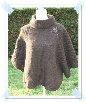 patron pour tricoter un poncho adulte