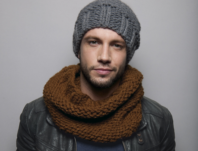 tricoter un bonnet homme en laine