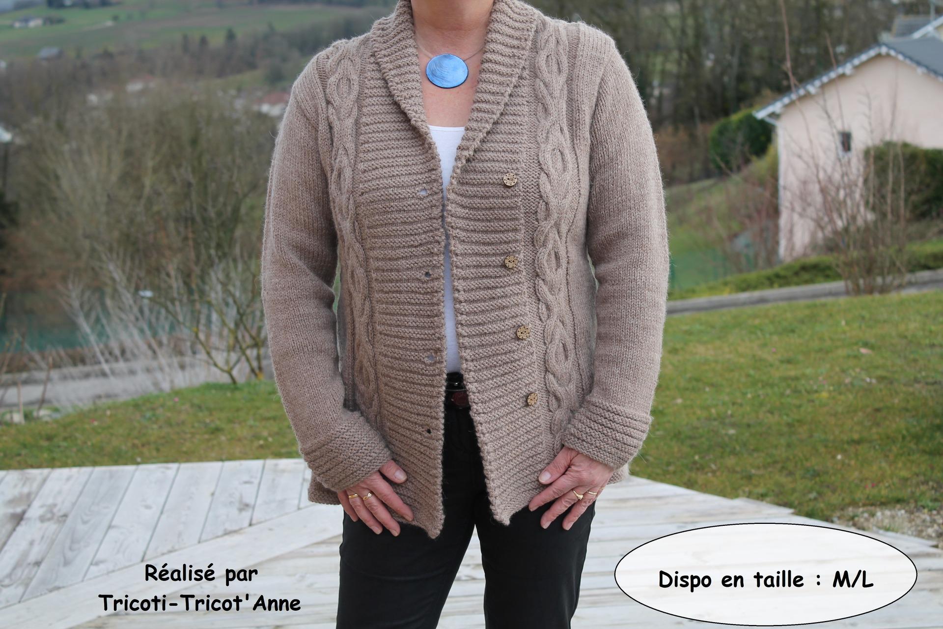 Modele veste laine tricoter pour femme