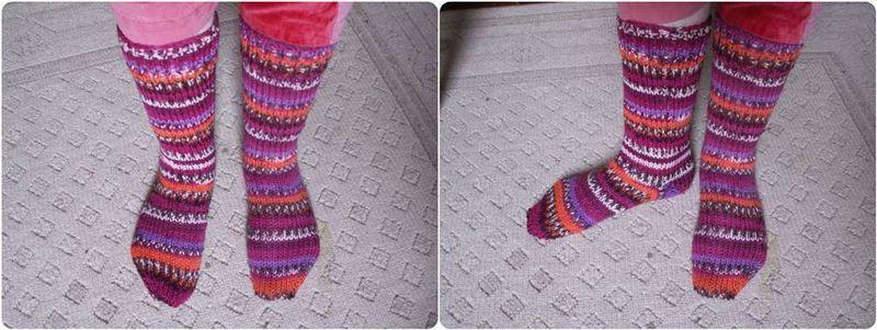 modèle tricot chaussette deux aiguilles