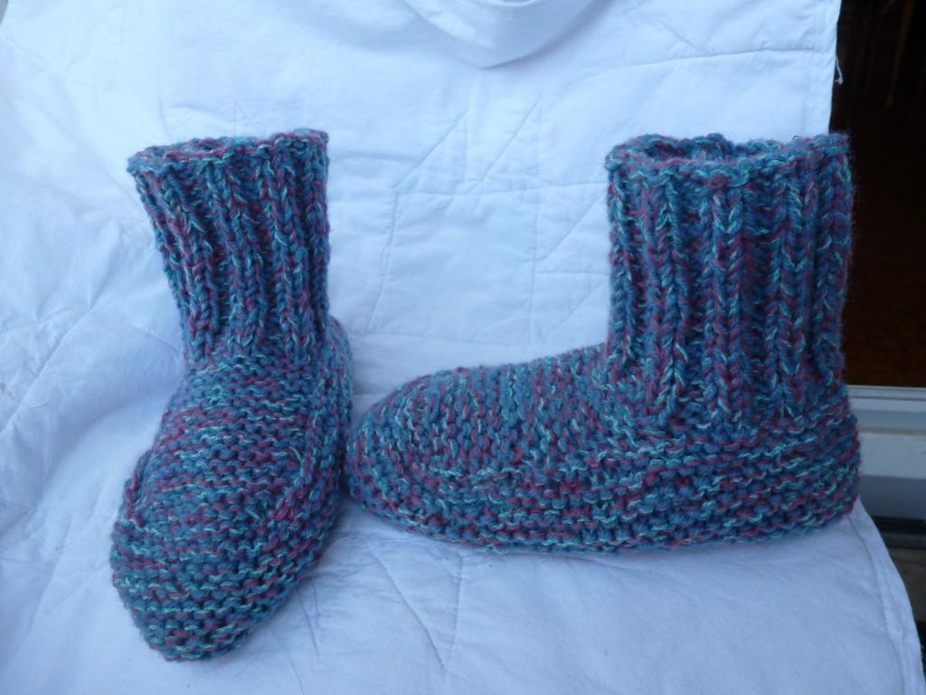 modèle tricot chausson d interieur