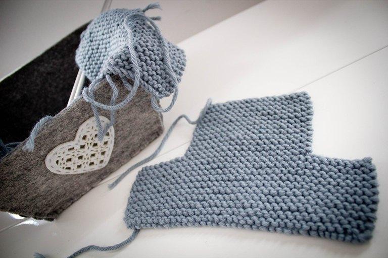 patron tricot chausson