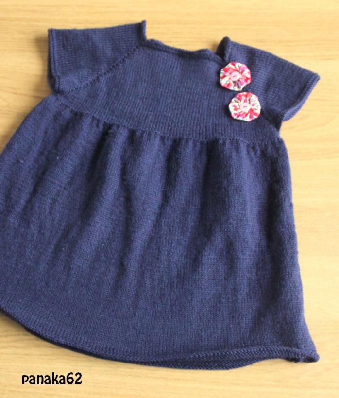 modèle gratuit tricot robe 2 ans