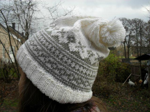 bonnet jacquard tricot