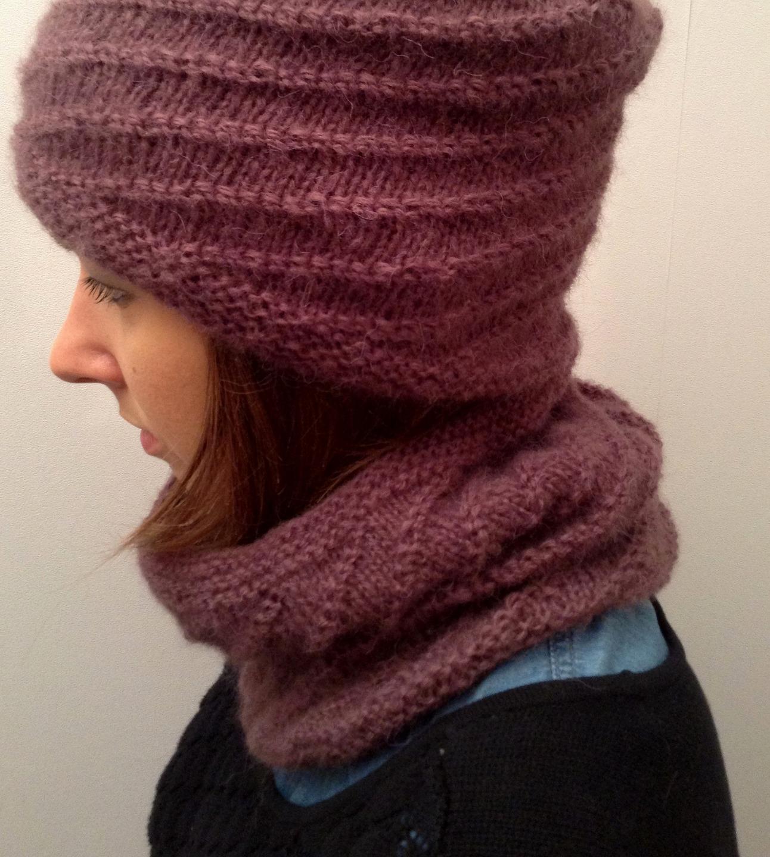 tricoter une echarpe spirale