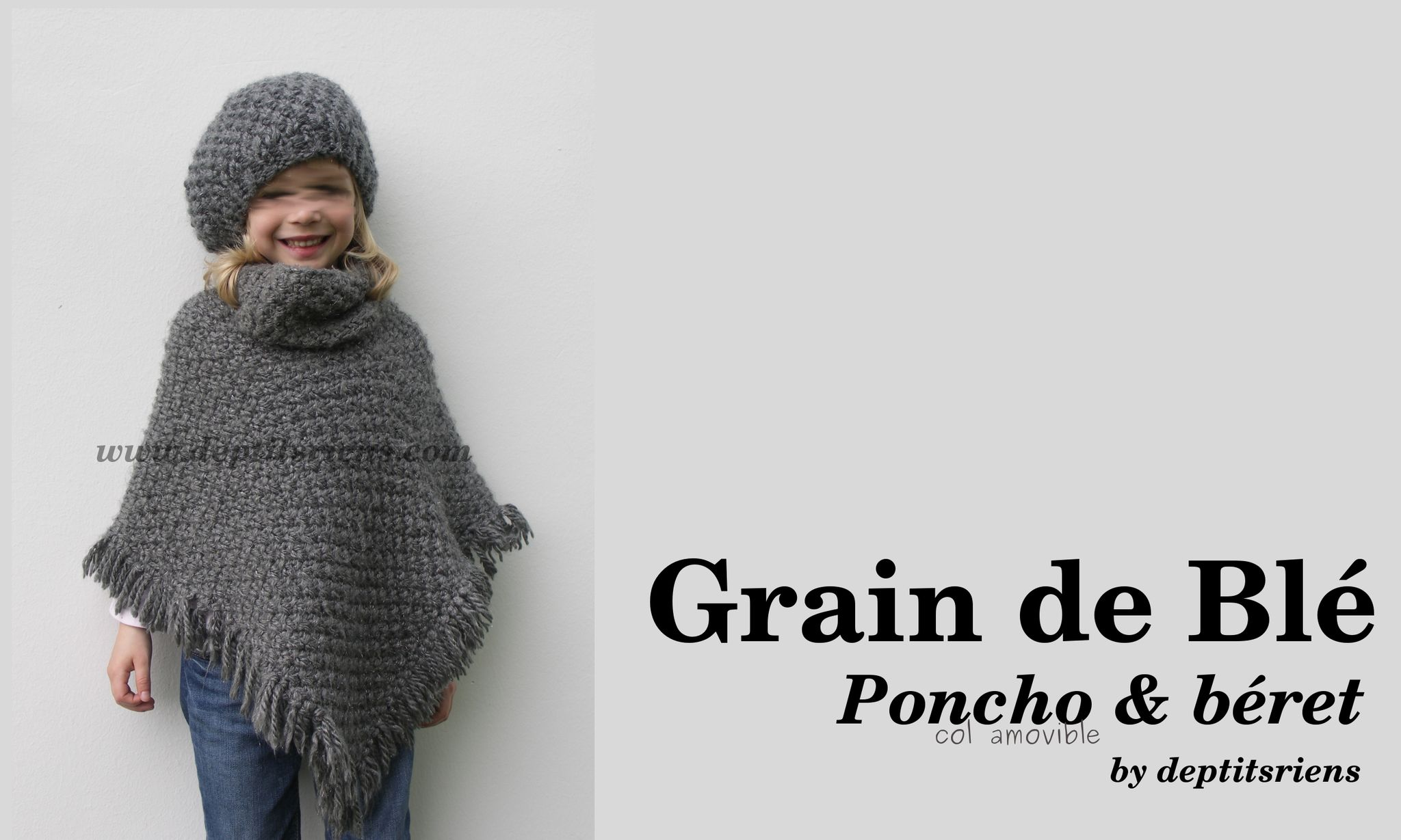 tricot poncho fille gratuit