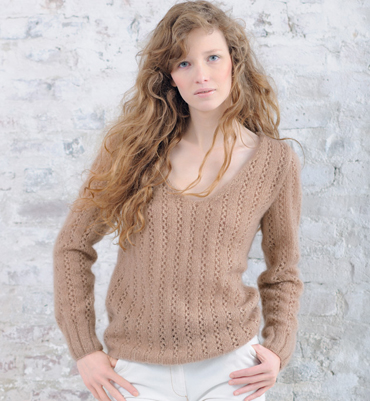 modele de pull ajoure a tricoter