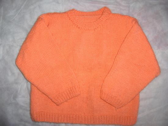 pull fille 4 ans a tricoter