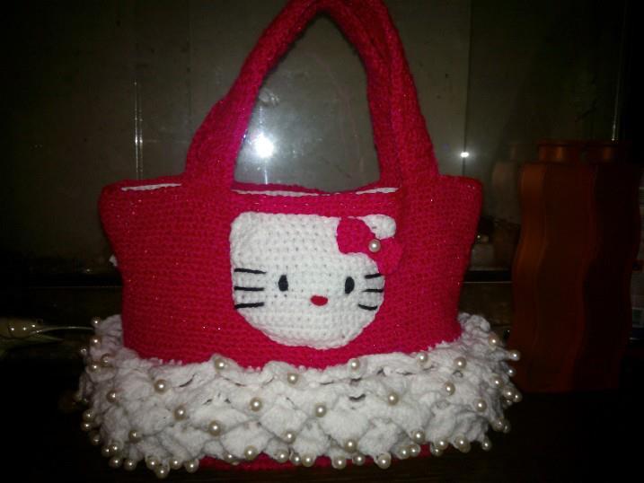 modèle tricot sac hello kitty
