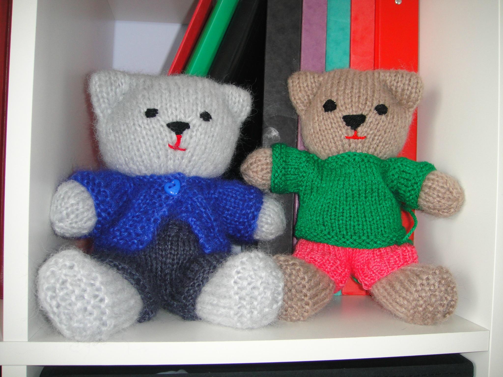 modèle tricot nounours gratuit