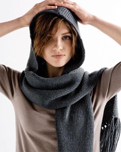 patron tricot echarpe+bonnet