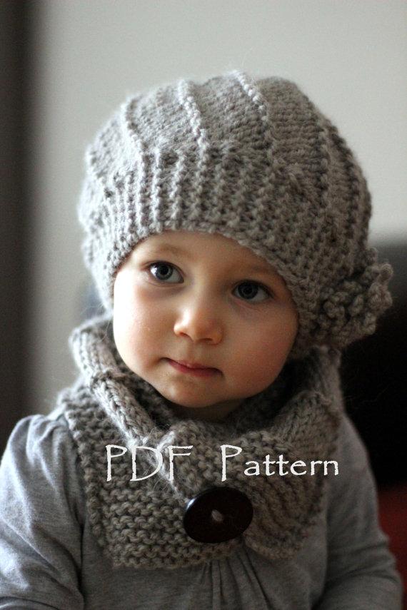 modele bonnet bebe fille a tricoter