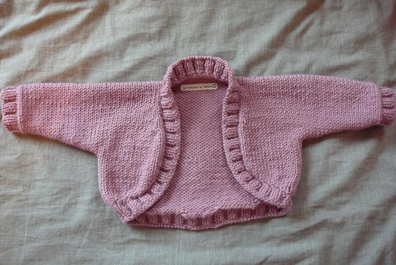 bolero fillette tricot
