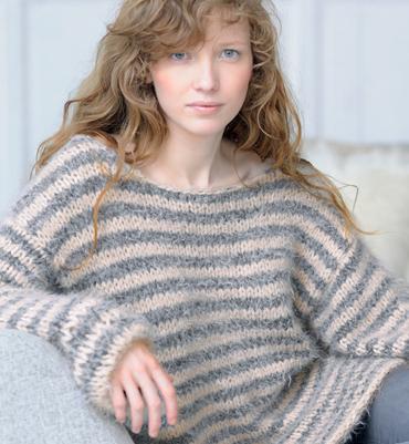 modele tricot pull long femme