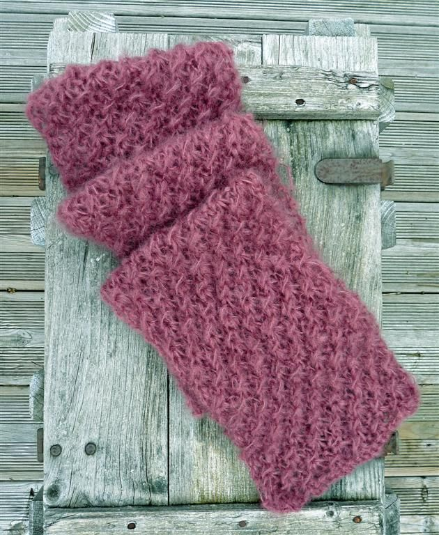 modèle tricot echarpe mohair