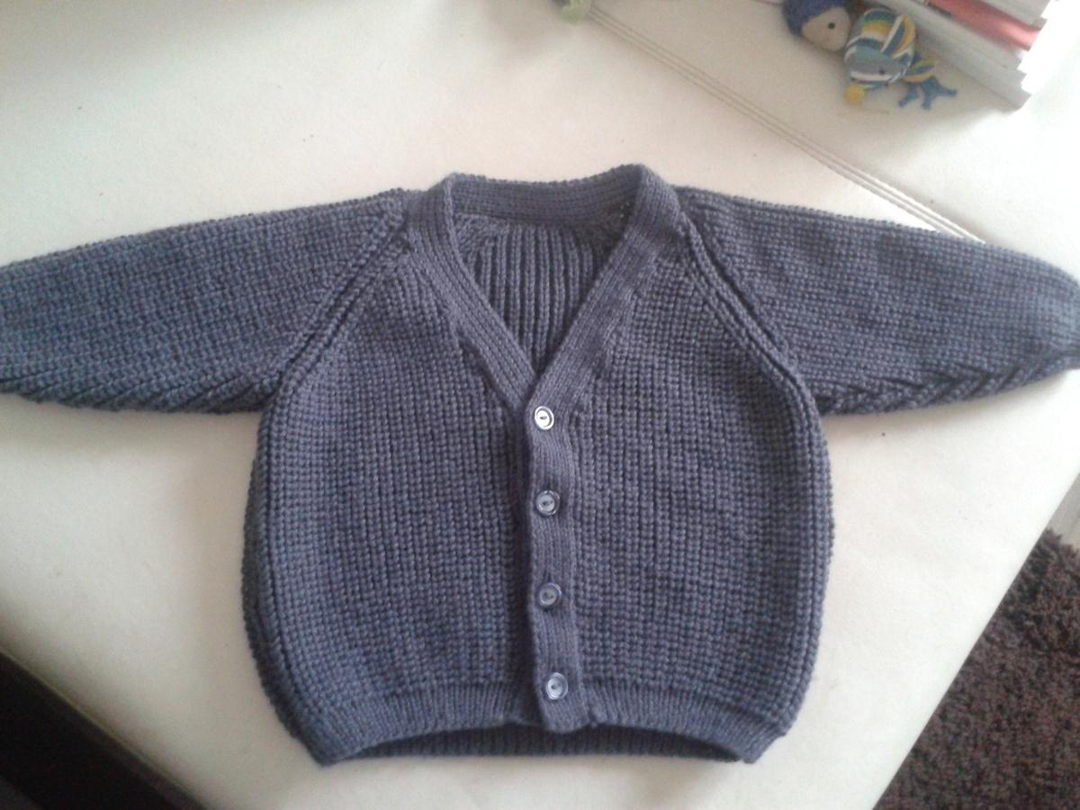 modele tricot gilet garcon