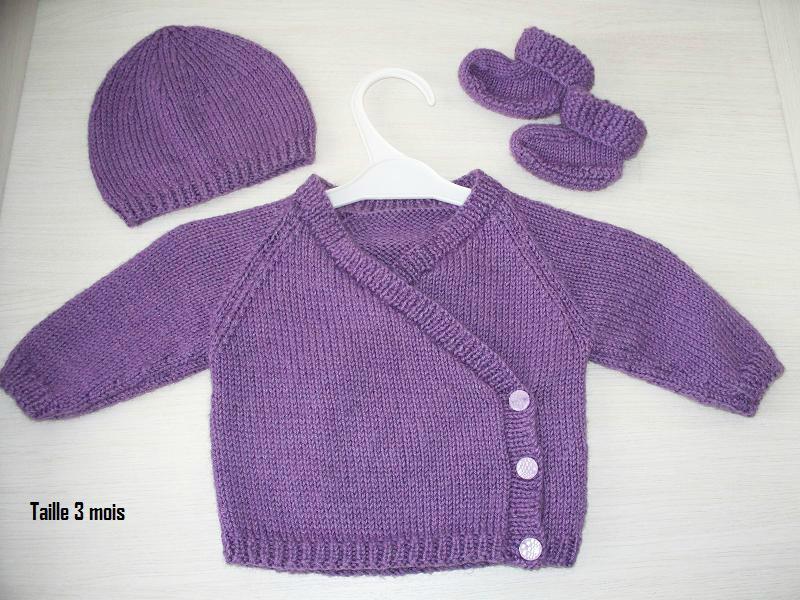 modèle tricot layette gratuit