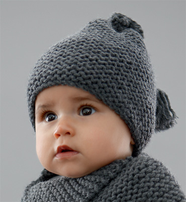 modele bonnet echarpe bebe tricot