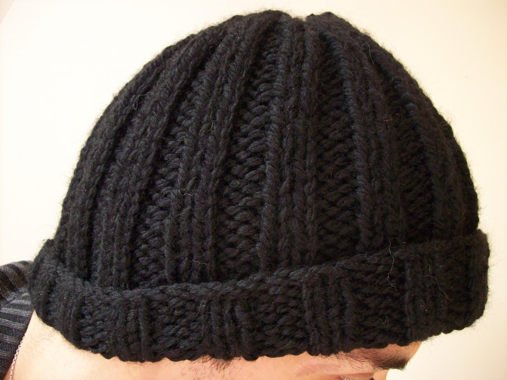 modèle tricot bonnet homme facile