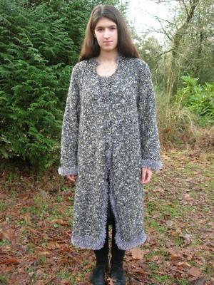 manteau au tricot