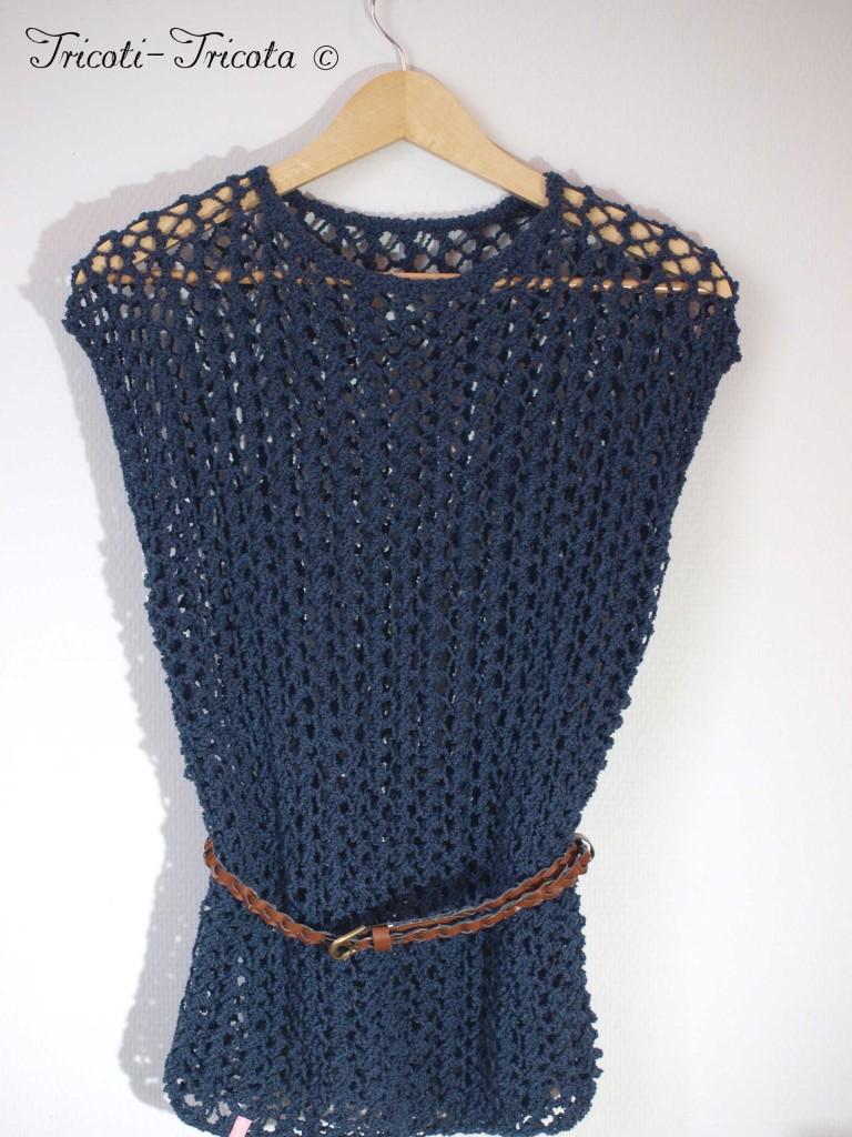 modèle tricot pull ajoure