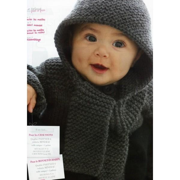Création modèle tricoter echarpe bébé 1fb36954782