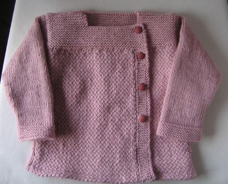 modele tricot veste 2 ans
