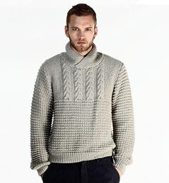 tricoter un pull homme
