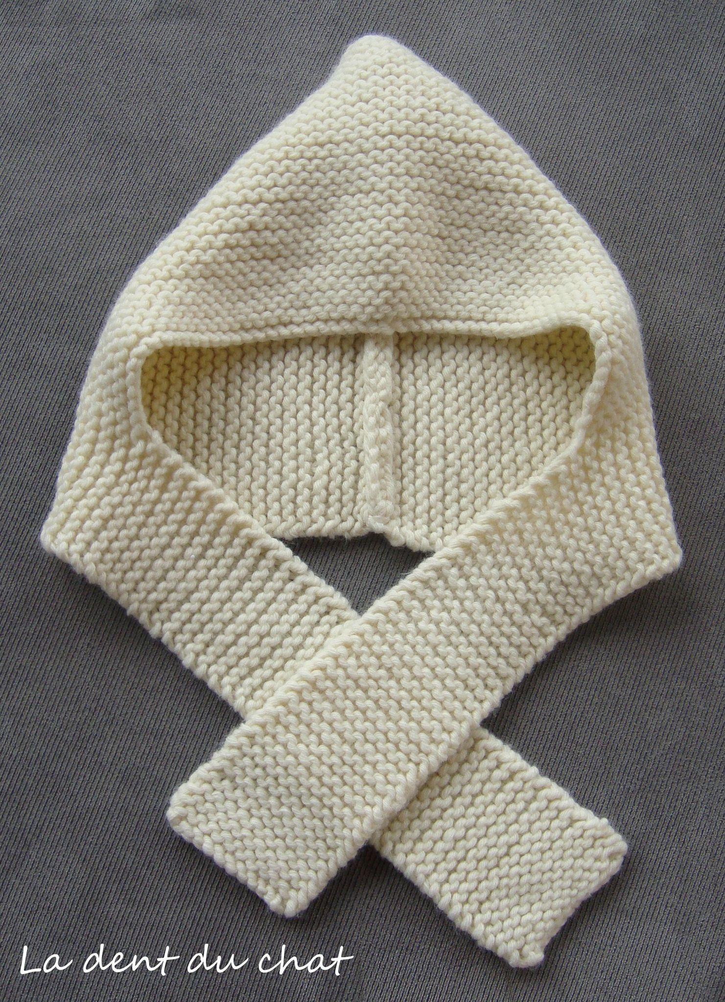tricoter un bonnet echarpe pour bebe