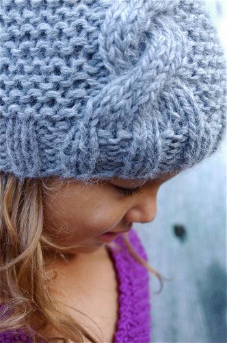 bonnet tricot fille 2 ans