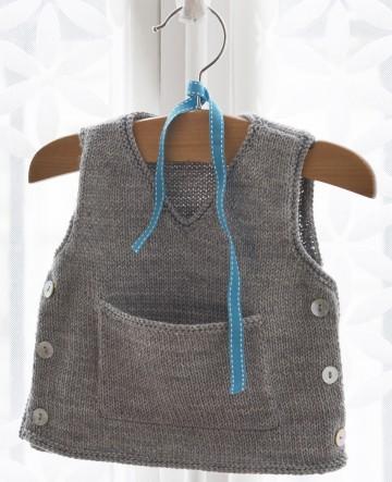modèle tricot gratuit debardeur bébé