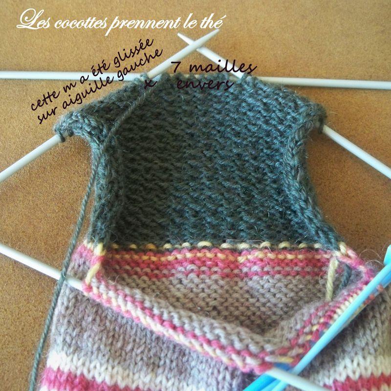 Tricoter une chaussette avec 4 aiguilles - Nos Conseils
